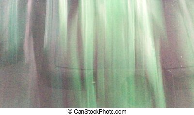 Car wash - Inside view of a car being washed on an automatic...