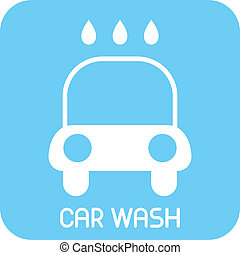 Car Wash - vector icon
