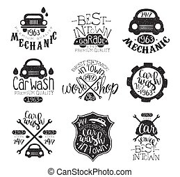 Car Wash Vintage Stamp Collection
