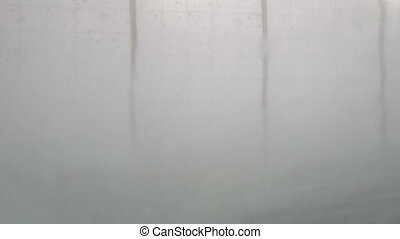 Car wash windshield view - View from Inside a car during...