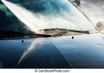 car wash with high water pressure