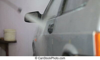 car wash with water pressure