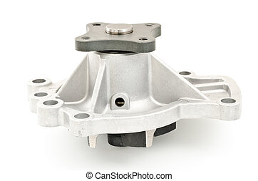 Car water pump - Side of car water pump on white background