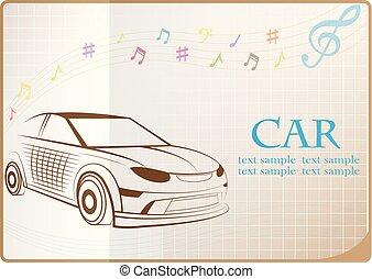 Car web icon, flat design