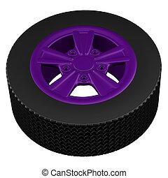 Car wheel. 3D rendering.