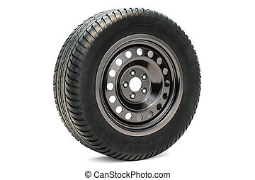 Car Wheel, 3D rendering