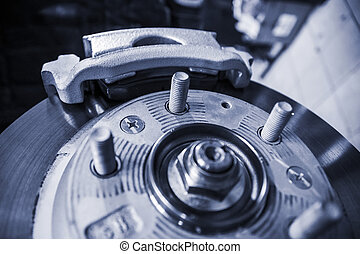 car wheel brake - brake mechanism of the car wheel at...