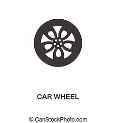 Car Wheel creative icon. Simple element illustration. Car Wheel concept symbol design from car parts collection. Can be used for web, mobile, web design, apps, software, print.
