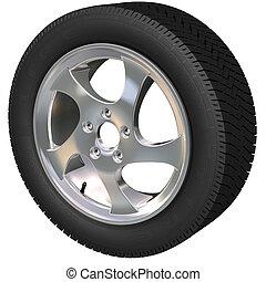 Car Wheel - Detailed car wheel and tire (3d render)