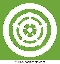 Car wheel icon green