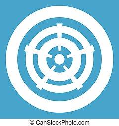 Car wheel icon white