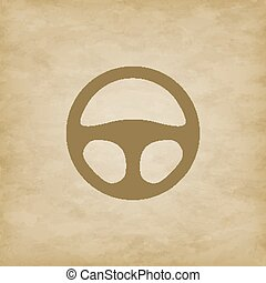 Car wheel on grunge background