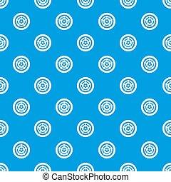 Car wheel pattern seamless blue