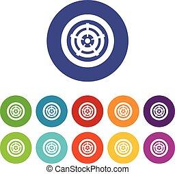 Car wheel set icons