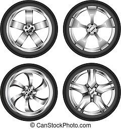 Car wheel set