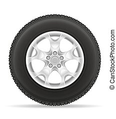 car wheel tire from the disk vector illustration isolated on...
