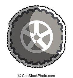 car wheel tire icon