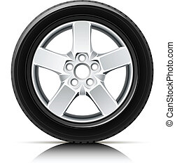 car wheel vector illustration isolated on white background