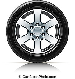 car wheel vector illustration isolated on white background...