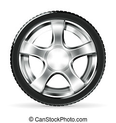 Car Wheel, vector