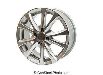 car wheels isolated on a white background
