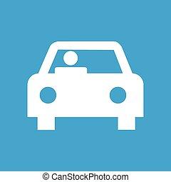 Car white icon