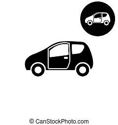 Car -  white vector icon