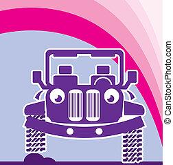 Car with a face - car with a face illustration clip-art...