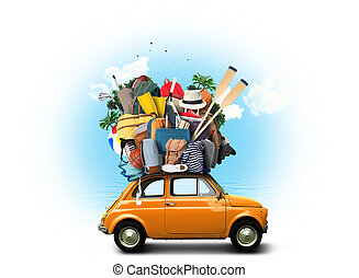 Car with baggage