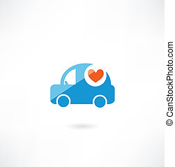 car with heart icon