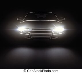 Car with lights