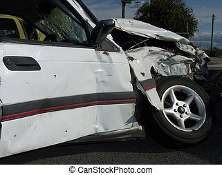 Car wreck - Auto wrecked in an accident