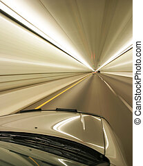 zoom - Car zooming through a tunnel