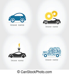 Car7 - Set of icons of cars. A vector illustration