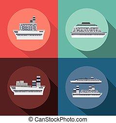 caraíbas, desenho, cruzeiro