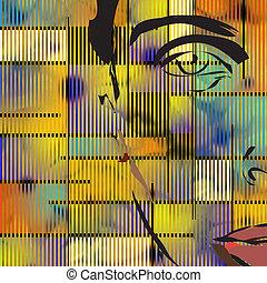 cara abstracta