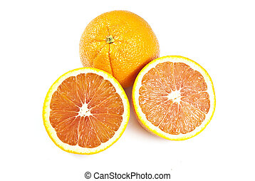 The Rosey Red Navel, also called Cara Cara Navel, is an navel orange resulting from the crossing of the Washington Navel and the Brazilian Bahia Navel
