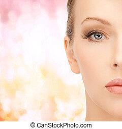 cara, de, mujer hermosa