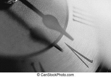 cara, reloj, detalle