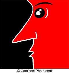 cara roja