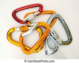 carabiners, escalade, multicolore, -, équipement