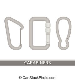 Carabiners Icon Set