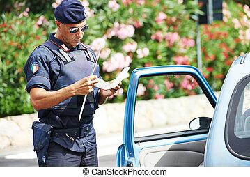 carabinier, italiano, policial