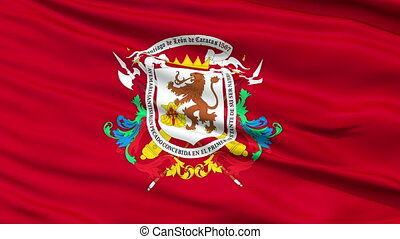 Caracas City Close Up Waving Flag - Caracas Capital City...