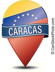CARACAS VENEZUELA glossy web pin