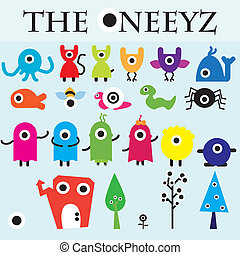 carachter collection - The Oneeyz vector carachter design ...