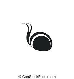 caracol, icono, ilustración, vector, plantilla, logotipo