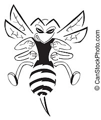 caractère, abeille