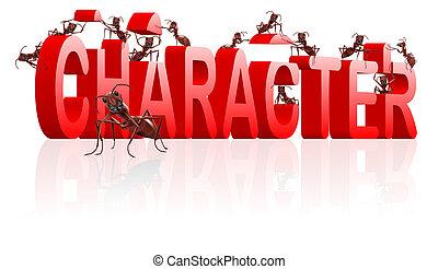 caractère, bâtiment, thérapie, à, individualité