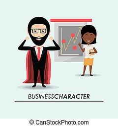 caractère, conception, business